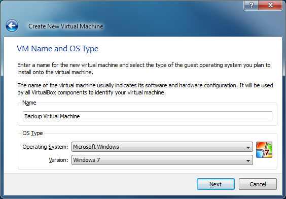 Using a VHD with Oracle VirtualBox