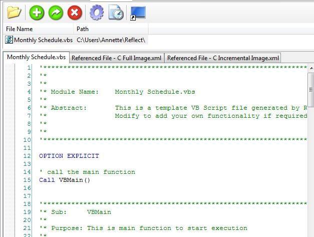 Manually customize a VBScript