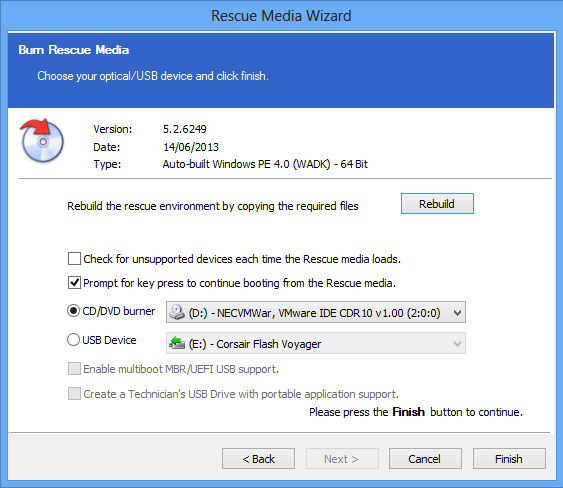 Create a Windows PE Rescue Environment