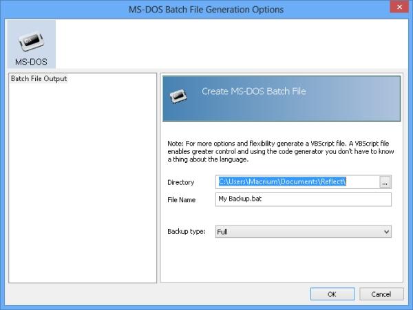 MS-DOS Batch File Generation